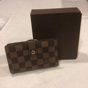 Louis Vuitton compact wallet with coin section